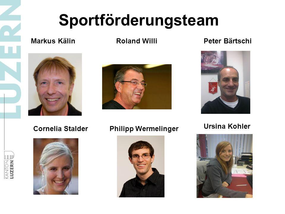 Sportförderungsteam Philipp Wermelinger Markus KälinRoland WilliPeter Bärtschi Cornelia Stalder Ursina Kohler