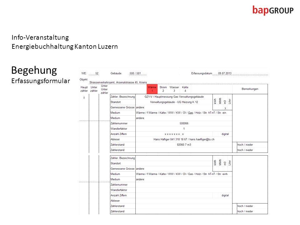Info-Veranstaltung Energiebuchhaltung Kanton Luzern Begehung Erfassungsformular