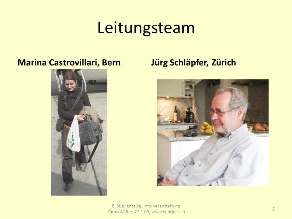 Leitungsteam Marina Castrovillari, BernJürg Schläpfer, Zürich 8.
