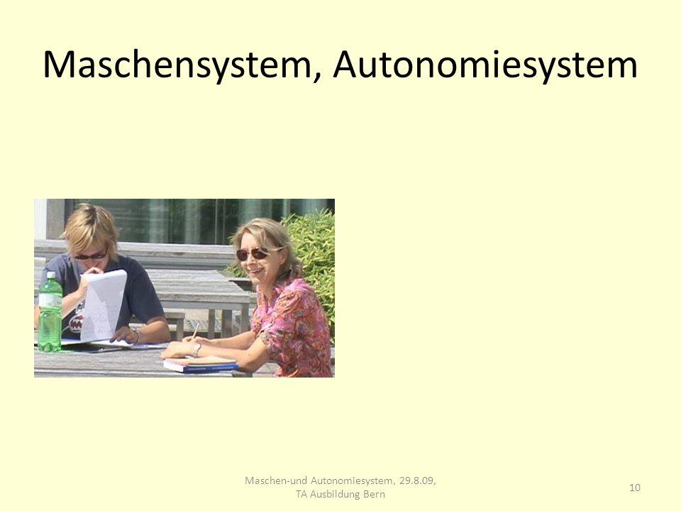 Maschensystem, Autonomiesystem 10 Maschen-und Autonomiesystem, 29.8.09, TA Ausbildung Bern