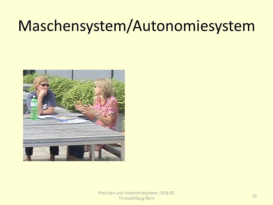 Maschensystem/Autonomiesystem 11 Maschen-und Autonomiesystem, 29.8.09, TA Ausbildung Bern