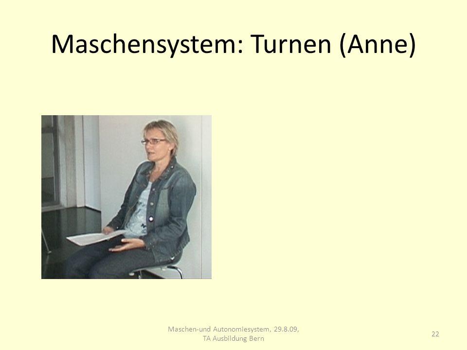 Maschensystem: Turnen (Anne) 22 Maschen-und Autonomiesystem, 29.8.09, TA Ausbildung Bern