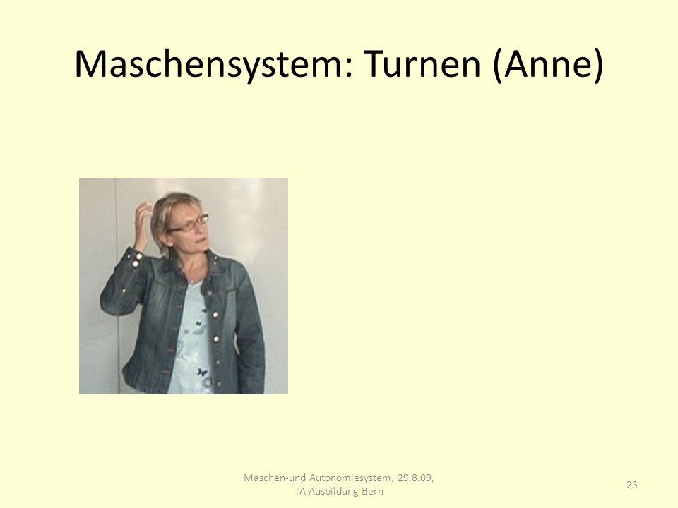 Maschensystem: Turnen (Anne) 23 Maschen-und Autonomiesystem, 29.8.09, TA Ausbildung Bern