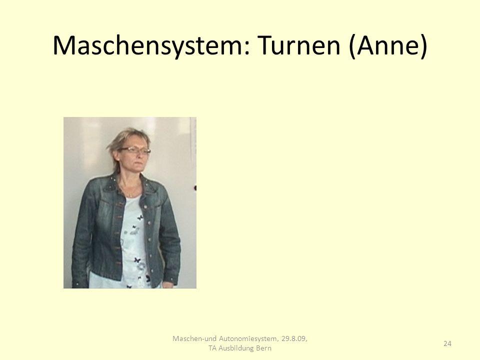 Maschensystem: Turnen (Anne) 24 Maschen-und Autonomiesystem, 29.8.09, TA Ausbildung Bern