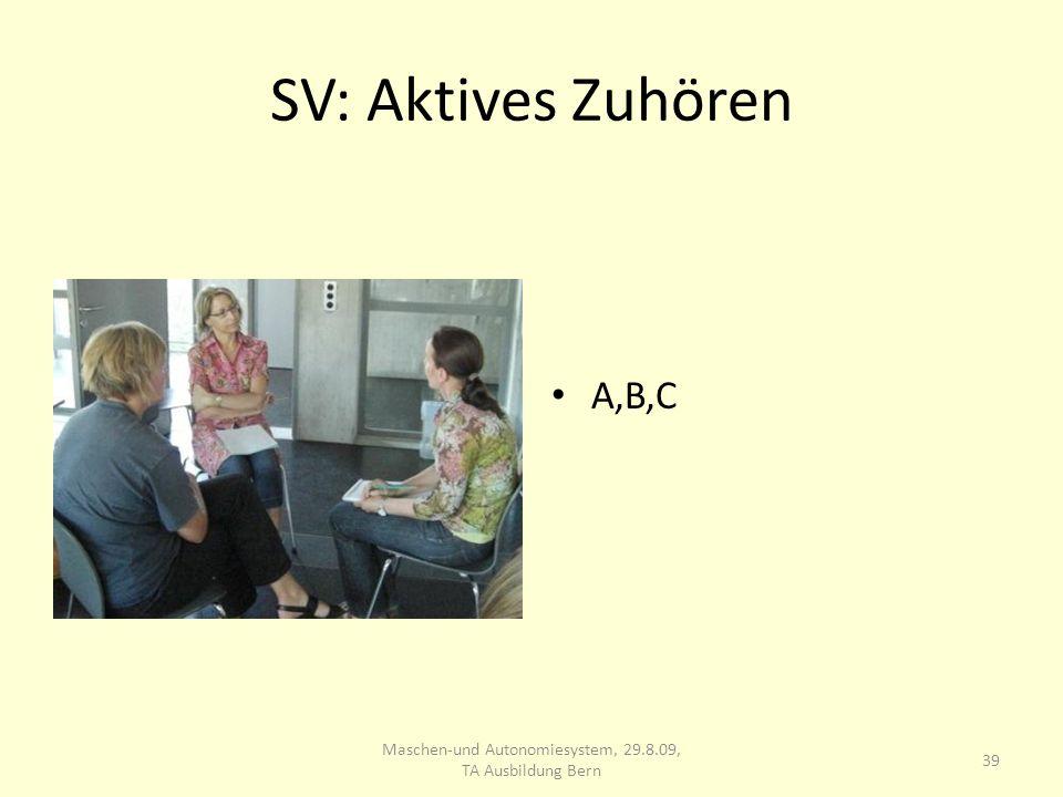 SV: Aktives Zuhören A,B,C 39 Maschen-und Autonomiesystem, 29.8.09, TA Ausbildung Bern