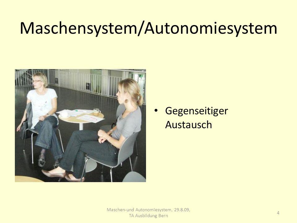 Maschensystem/Autonomiesystem Gegenseitiger Austausch 4 Maschen-und Autonomiesystem, 29.8.09, TA Ausbildung Bern