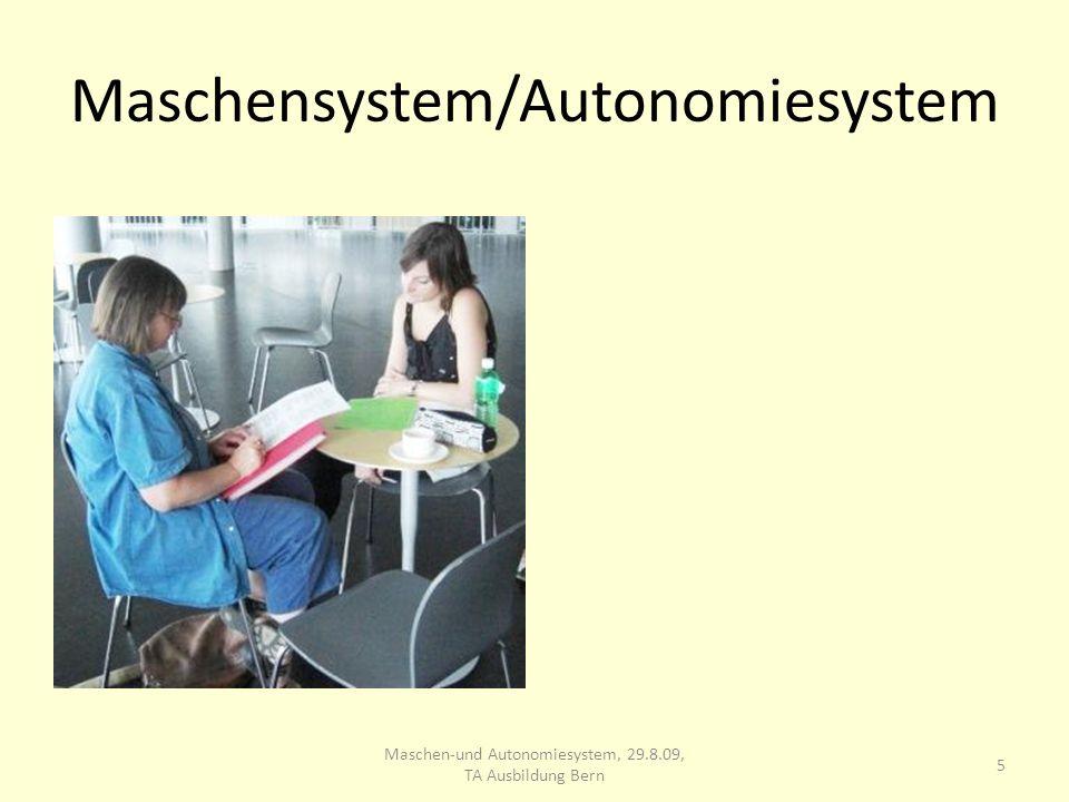 Maschensystem/Autonomiesystem 5 Maschen-und Autonomiesystem, 29.8.09, TA Ausbildung Bern