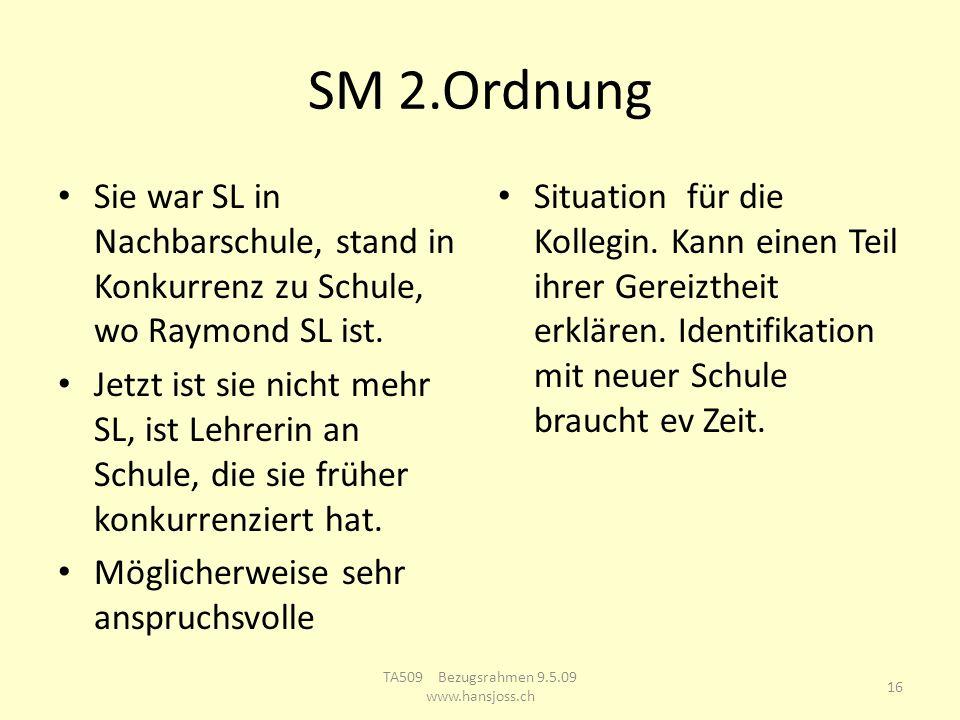 SM 2.Ordnung Sie war SL in Nachbarschule, stand in Konkurrenz zu Schule, wo Raymond SL ist.