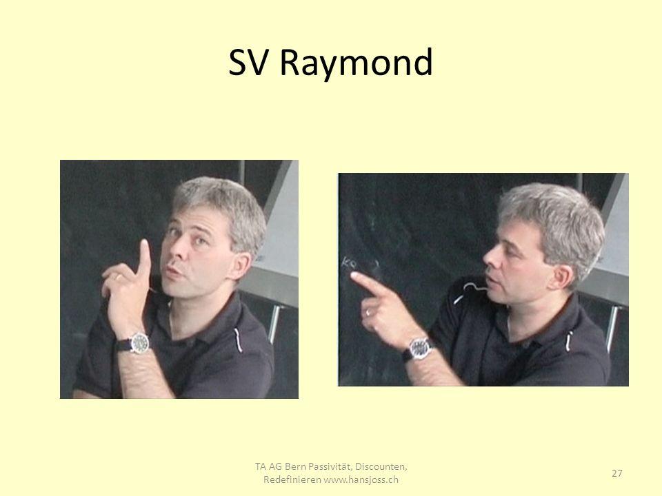SV Raymond 27 TA AG Bern Passivität, Discounten, Redefinieren www.hansjoss.ch