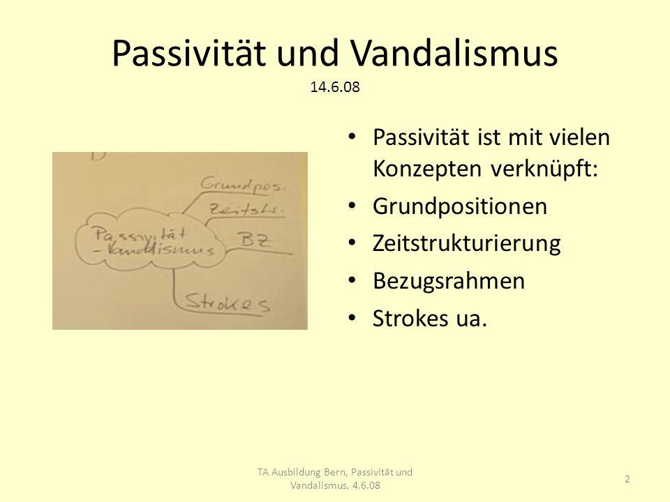 Passivität und Vandalismus 14.6.08 Uebung nach Gührs, S.