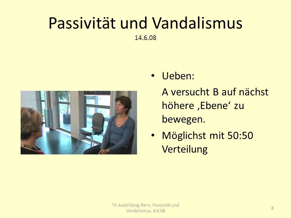 Passivität und Vandalismus 14.6.08 9 TA Ausbildung Bern, Passivität und Vandalismus, 4.6.08