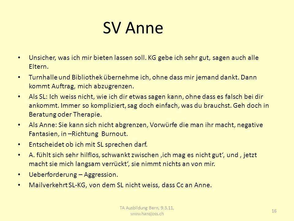 SV Anne Unsicher, was ich mir bieten lassen soll.KG gebe ich sehr gut, sagen auch alle Eltern.