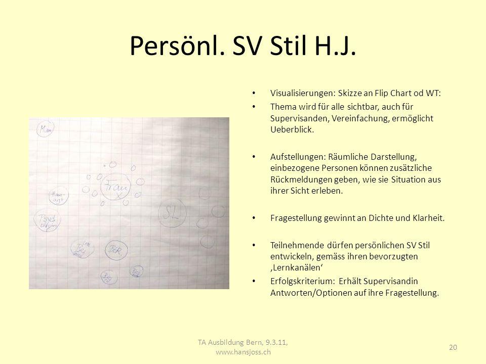 Persönl.SV Stil H.J.