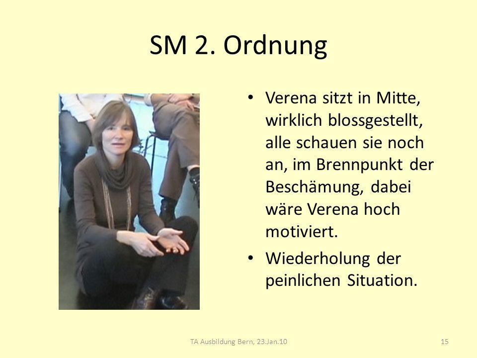 SM 2. Ordnung Verena sitzt in Mitte, wirklich blossgestellt, alle schauen sie noch an, im Brennpunkt der Beschämung, dabei wäre Verena hoch motiviert.