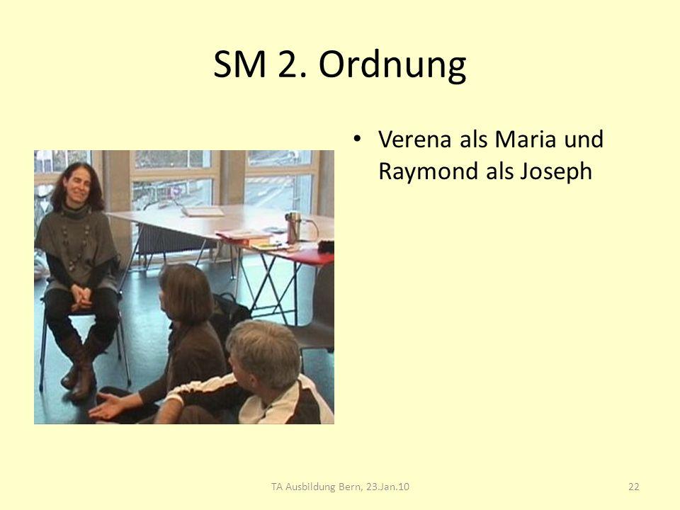 SM 2. Ordnung Verena als Maria und Raymond als Joseph 22TA Ausbildung Bern, 23.Jan.10