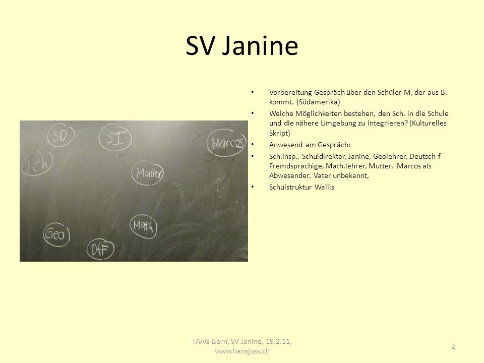 SV Janine Vorbereitung Gespräch über den Schüler M, der aus B.