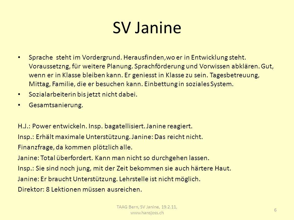 SV Janine Sprache steht im Vordergrund. Herausfinden,wo er in Entwicklung steht.