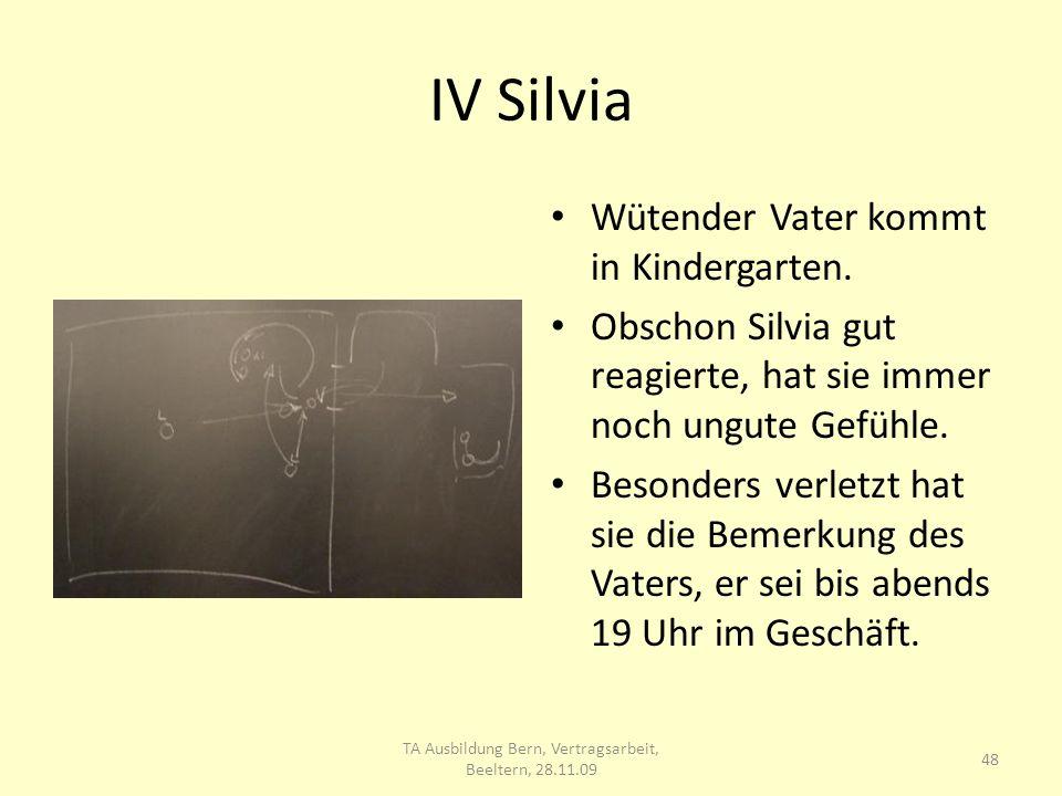 IV Silvia Wütender Vater kommt in Kindergarten.