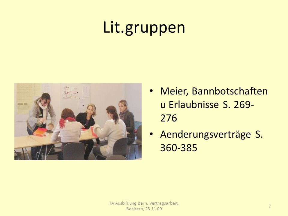 Lit.gruppen Meier, Bannbotschaften u Erlaubnisse S.
