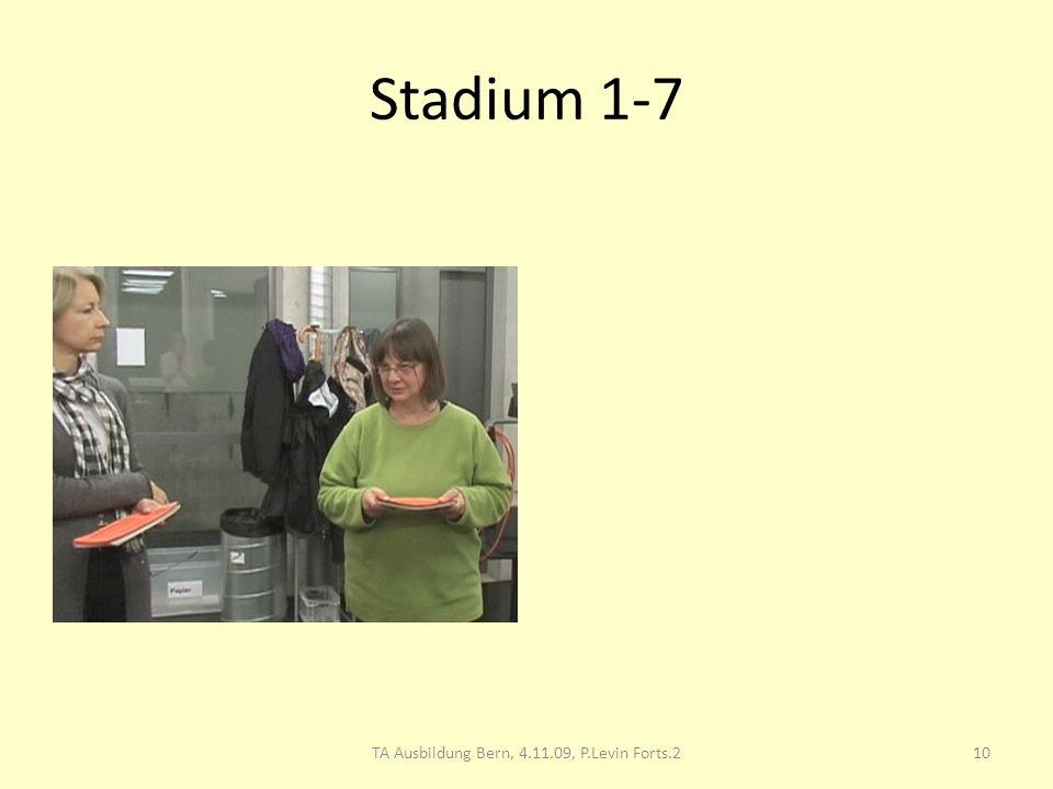 Stadium 1-7 10TA Ausbildung Bern, 4.11.09, P.Levin Forts.2