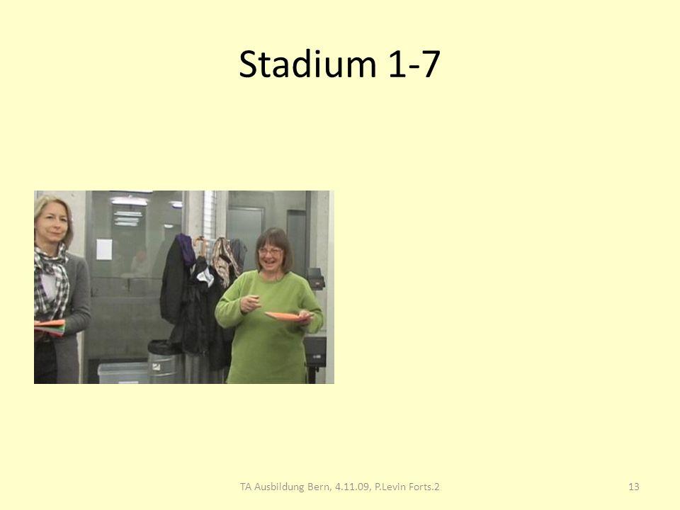 Stadium 1-7 13TA Ausbildung Bern, 4.11.09, P.Levin Forts.2