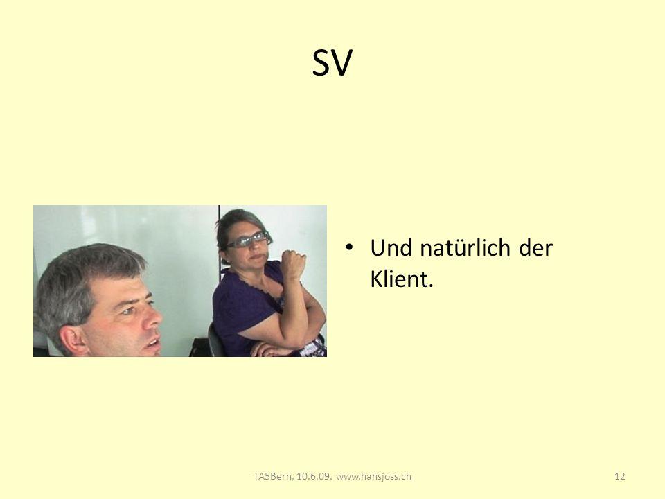 SV Und natürlich der Klient. 12TA5Bern, 10.6.09, www.hansjoss.ch
