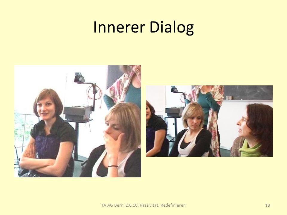 Innerer Dialog 18TA AG Bern, 2.6.10, Passivität, Redefinieren