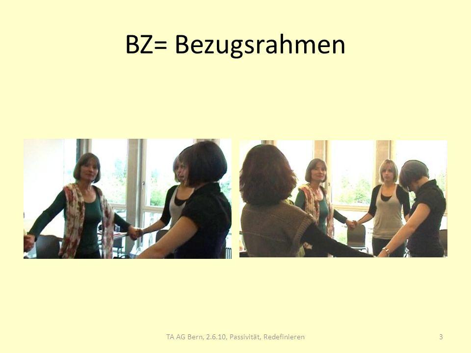 BZ= Bezugsrahmen 3TA AG Bern, 2.6.10, Passivität, Redefinieren