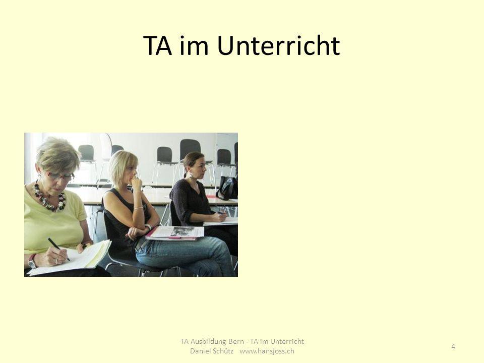 TA im Unterricht 4 TA Ausbildung Bern - TA im Unterricht Daniel Schütz www.hansjoss.ch