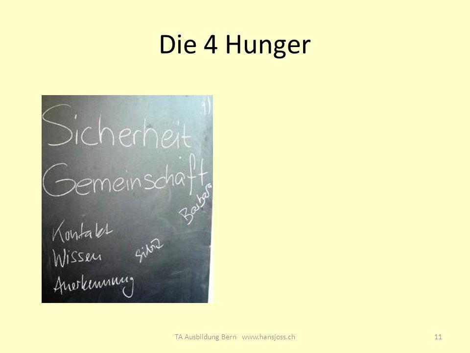 Die 4 Hunger 11TA Ausbildung Bern www.hansjoss.ch