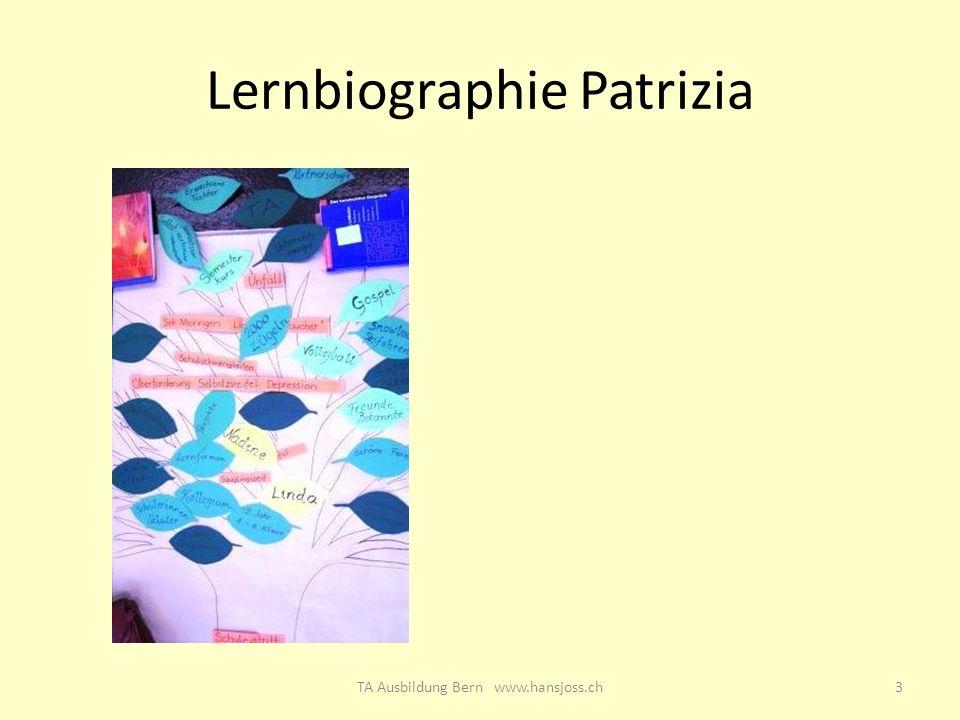 Lernbiographie Patrizia 3TA Ausbildung Bern www.hansjoss.ch