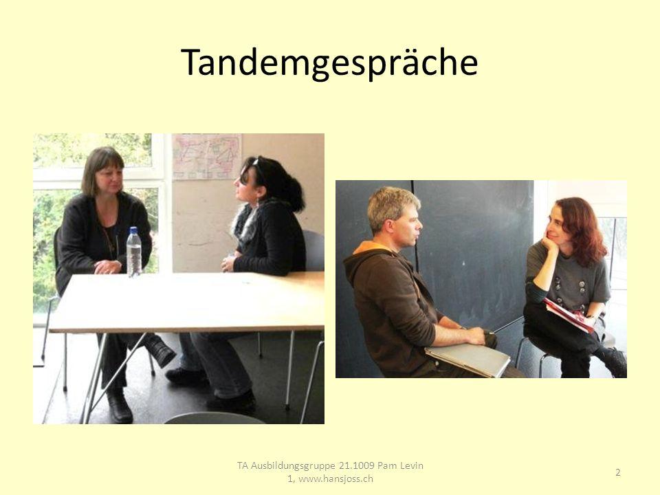 Tandemgespräche 2 TA Ausbildungsgruppe 21.1009 Pam Levin 1, www.hansjoss.ch