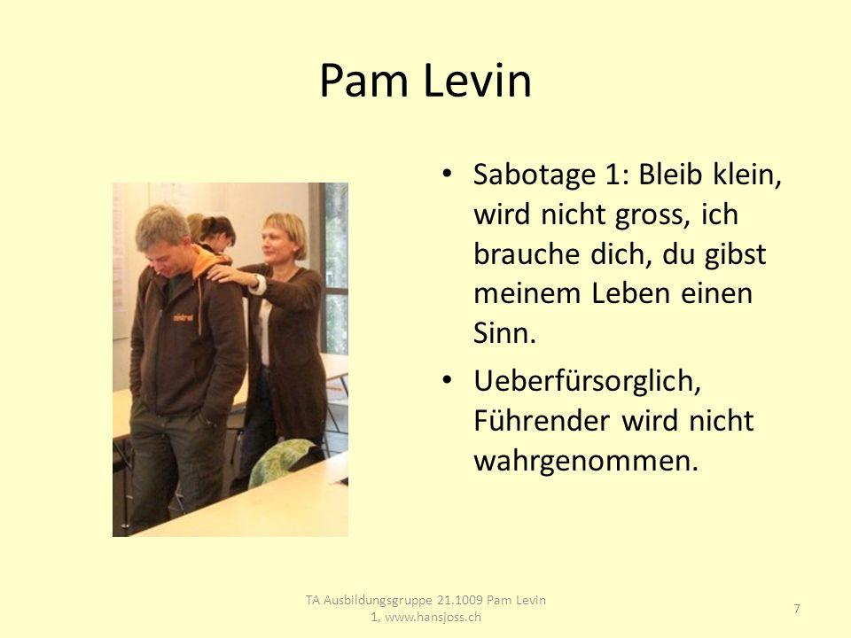 Pam Levin Sabotage 1: Bleib klein, wird nicht gross, ich brauche dich, du gibst meinem Leben einen Sinn.