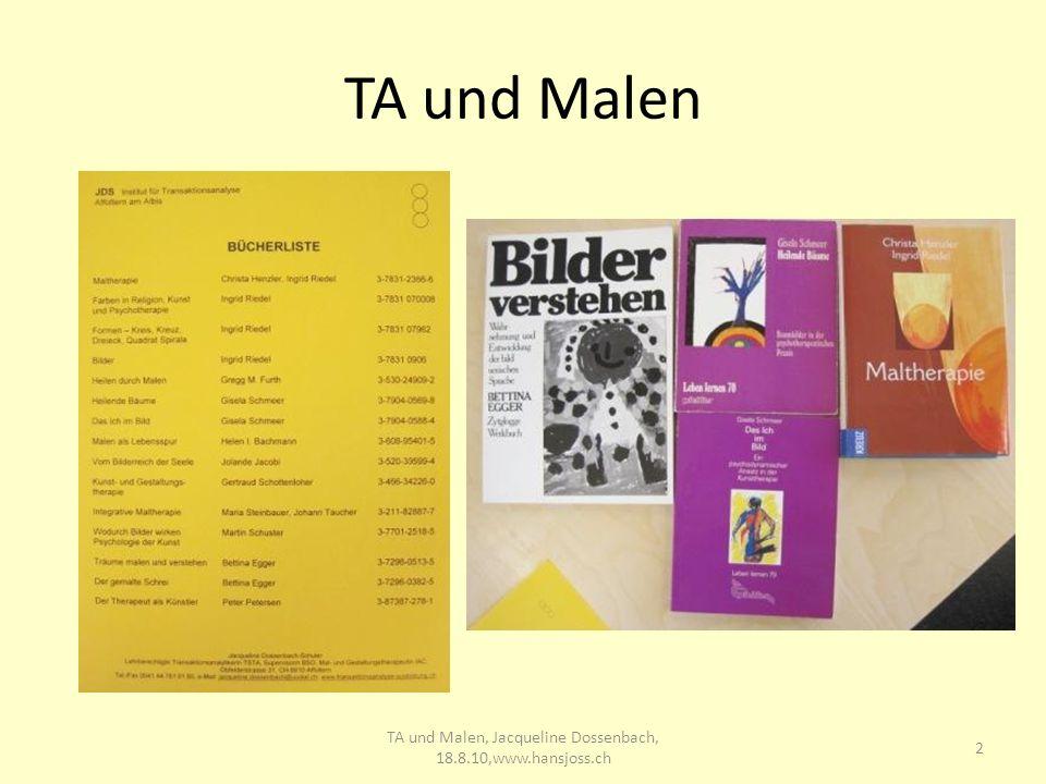 TA und Malen 2 TA und Malen, Jacqueline Dossenbach, 18.8.10,www.hansjoss.ch