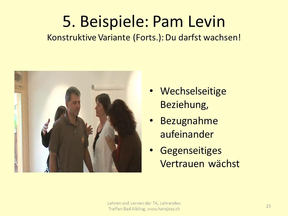 5.Beispiele: Pam Levin Konstruktive Variante (Forts.): Du darfst wachsen.