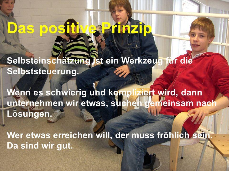 www.hansjoss.ch Das positive Prinzip Selbsteinschätzung ist ein Werkzeug für die Selbststeuerung. Wenn es schwierig und kompliziert wird, dann unterne