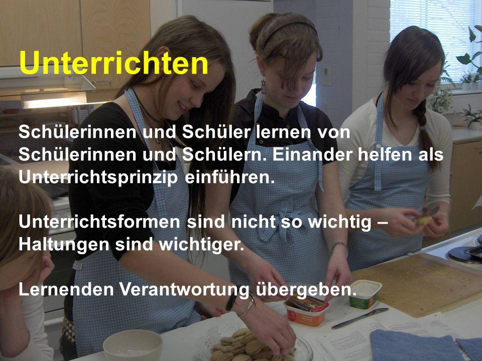 www.hansjoss.ch Unterrichten Schülerinnen und Schüler lernen von Schülerinnen und Schülern. Einander helfen als Unterrichtsprinzip einführen. Unterric