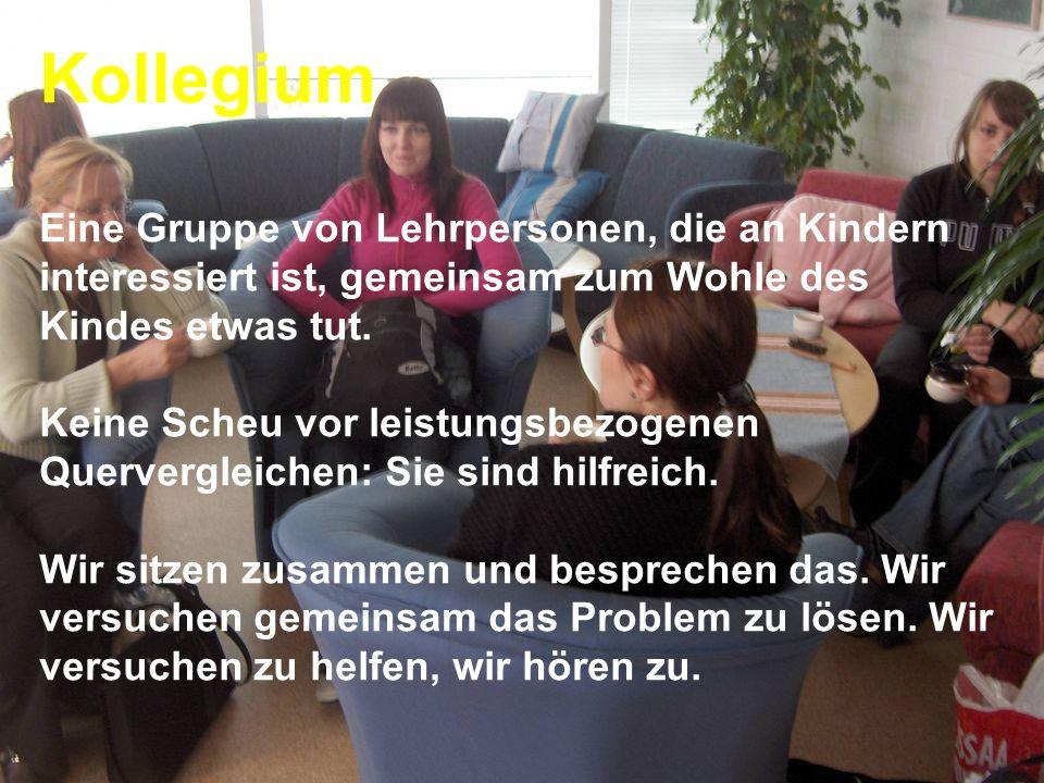www.hansjoss.ch Kollegium Eine Gruppe von Lehrpersonen, die an Kindern interessiert ist, gemeinsam zum Wohle des Kindes etwas tut. Keine Scheu vor lei