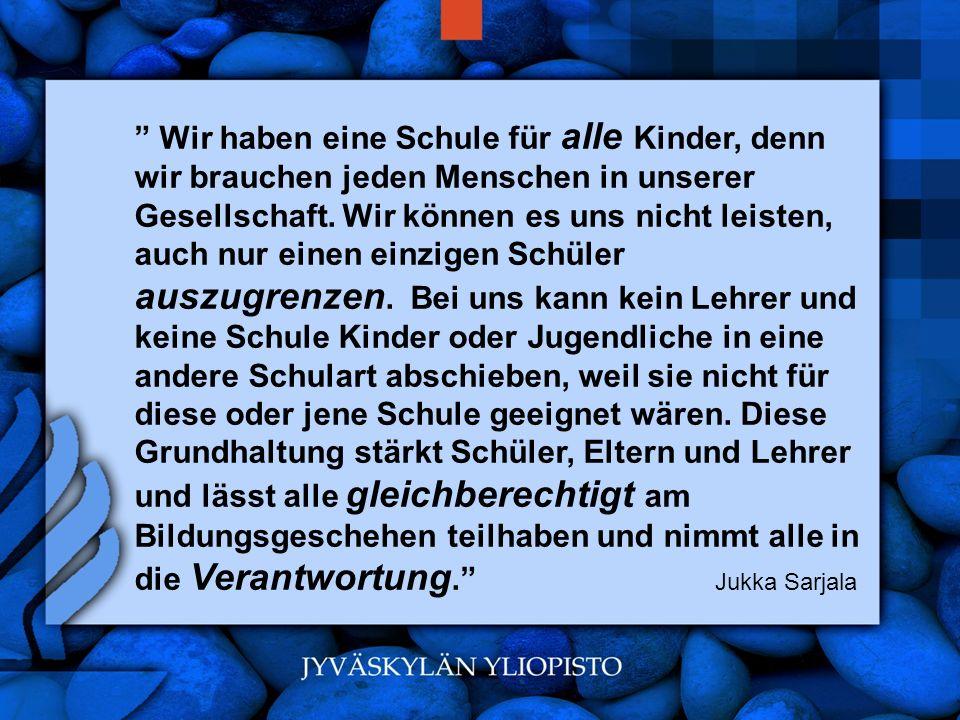 www.hansjoss.ch Wir haben eine Schule für alle Kinder, denn wir brauchen jeden Menschen in unserer Gesellschaft. Wir können es uns nicht leisten, auch