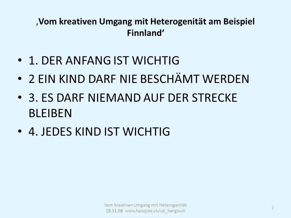 07.08.07, Seite 8 Separationsrate im interkantonalen Vergleich (2005/06) Vom kreativen Umgang mit Heterogenität 19.11.08 www.hansjoss.ch/vsl_hergiswil