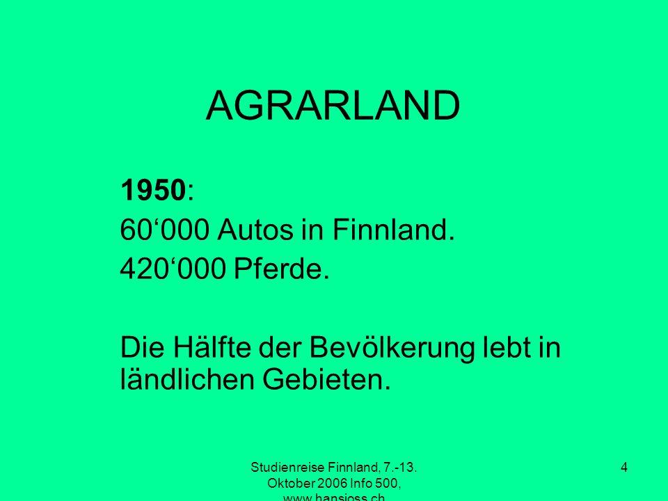Studienreise Finnland, 7.-13. Oktober 2006 Info 500, www.hansjoss.ch 5 1950
