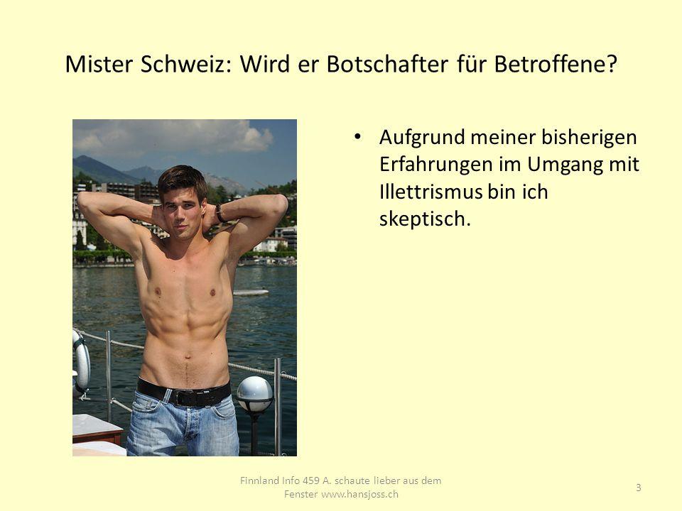 Mister Schweiz: Wird er Botschafter für Betroffene.