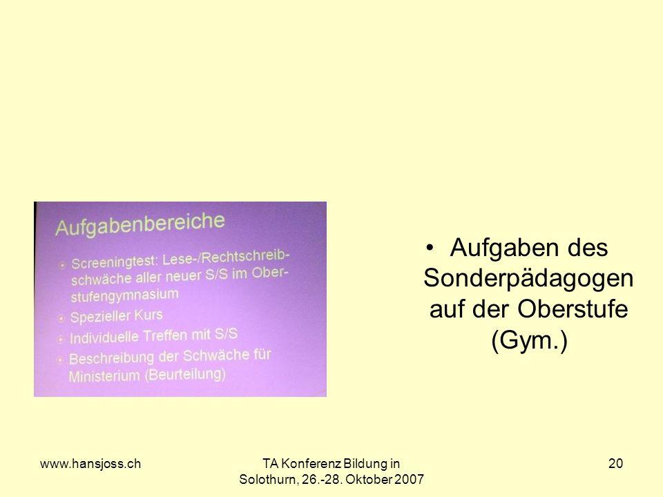 www.hansjoss.chTA Konferenz Bildung in Solothurn, 26.-28.