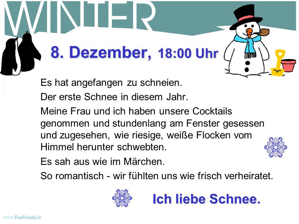 FunFriends www.FunFriends.dee Wintergeschichte weiße Weihnacht Schnee... oder der 30 Tage Weg zum Nervenzusammenbruch