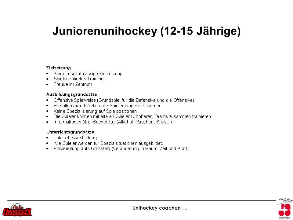 Unihockey coachen maw02 Juniorenunihockey (12-15 Jährige)