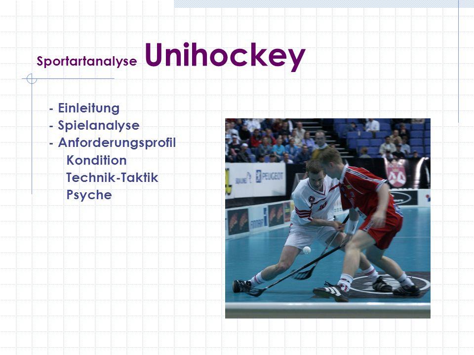 Sportartanalyse Unihockey - Einleitung - Spielanalyse - Anforderungsprofil Kondition Technik-Taktik Psyche