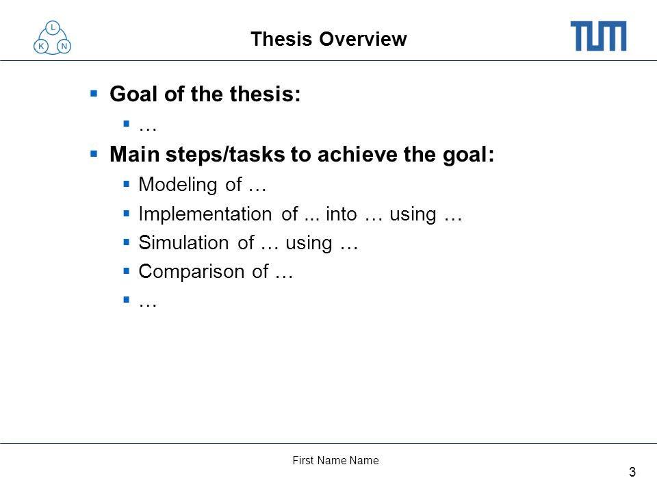 4 First Name Name Summary of Thesis Results... …