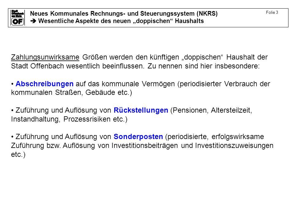 Neues Kommunales Rechnungs- und Steuerungssystem (NKRS) Wesentliche Aspekte des neuen doppischen Haushalts Folie 4 Projekt NKRS – Status in den Teilprojekten