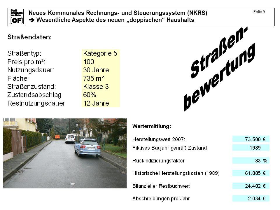 Neues Kommunales Rechnungs- und Steuerungssystem (NKRS) Wesentliche Aspekte des neuen doppischen Haushalts Folie 9