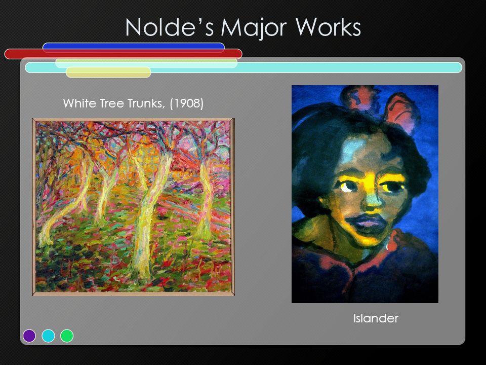 Noldes Major Works White Tree Trunks, (1908) Islander